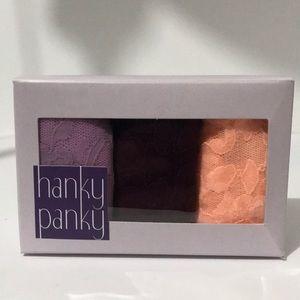 Hanky panky low rise thongs set of 3